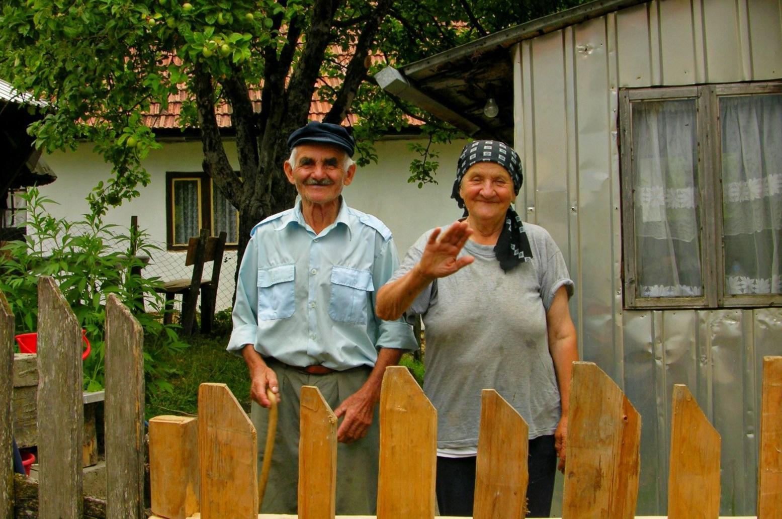 deda Sajko i baka jela selo Mazoce